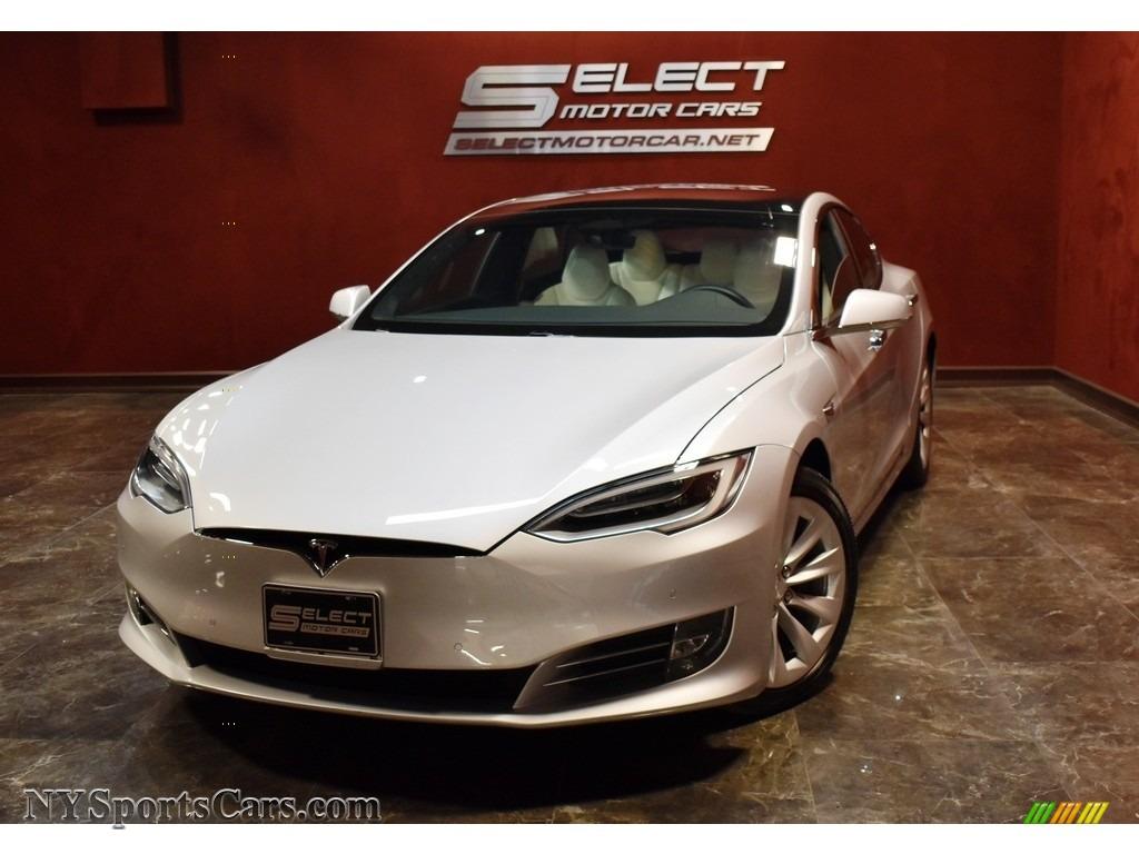 2017 Model S 75D - Silver Metallic / White photo #1