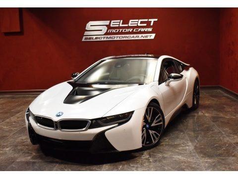 Crystal White Pearl Metallic 2015 BMW i8 Pure Impulse World