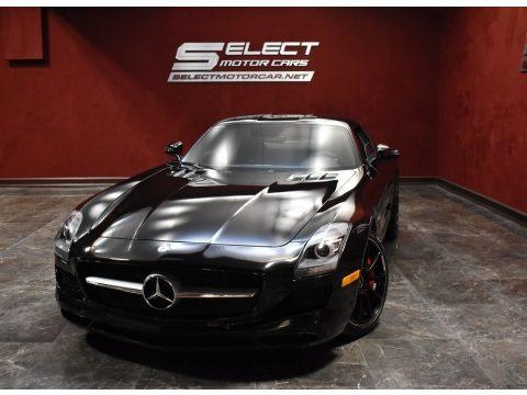 Obsidian Black Metallic 2012 Mercedes-Benz SLS AMG