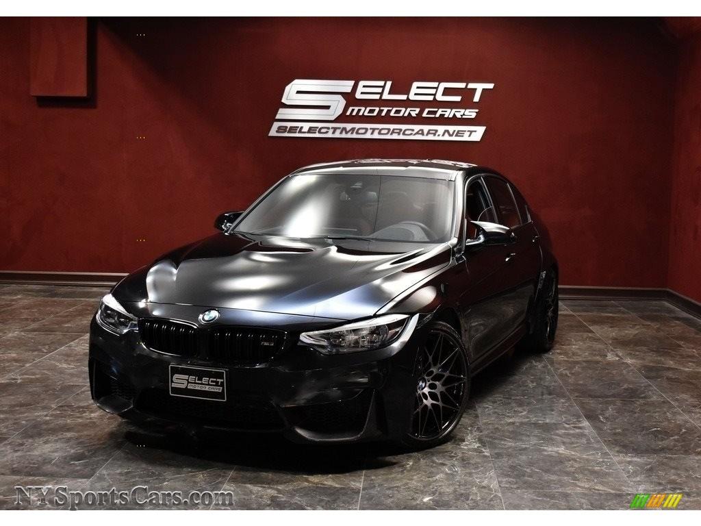 2018 M3 Sedan - Black Sapphire Metallic / Sakhir Orange/Black photo #1