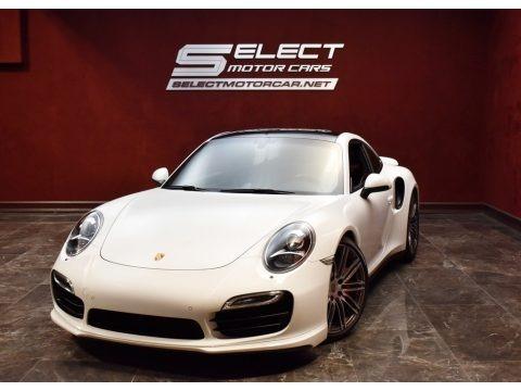White 2014 Porsche 911 Turbo Coupe