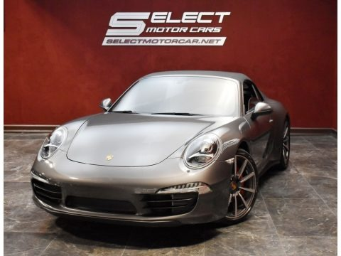 Agate Grey Metallic 2013 Porsche 911 Carrera 4S Cabriolet