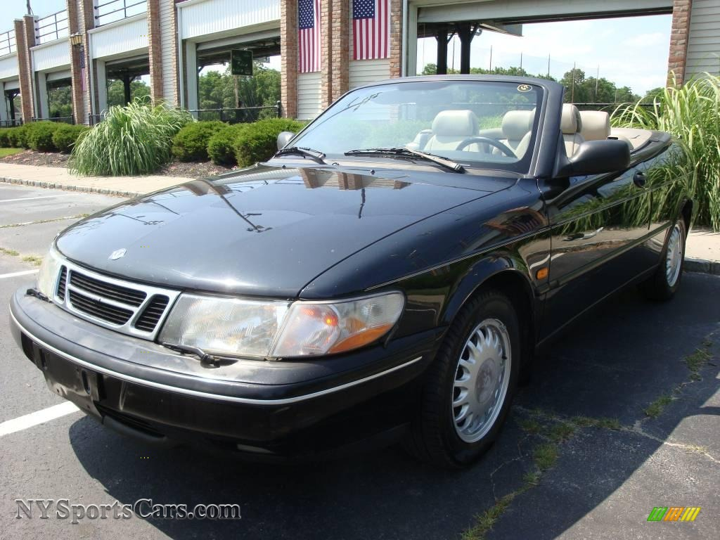 1996 saab 900 s convertible in black 008605. Black Bedroom Furniture Sets. Home Design Ideas