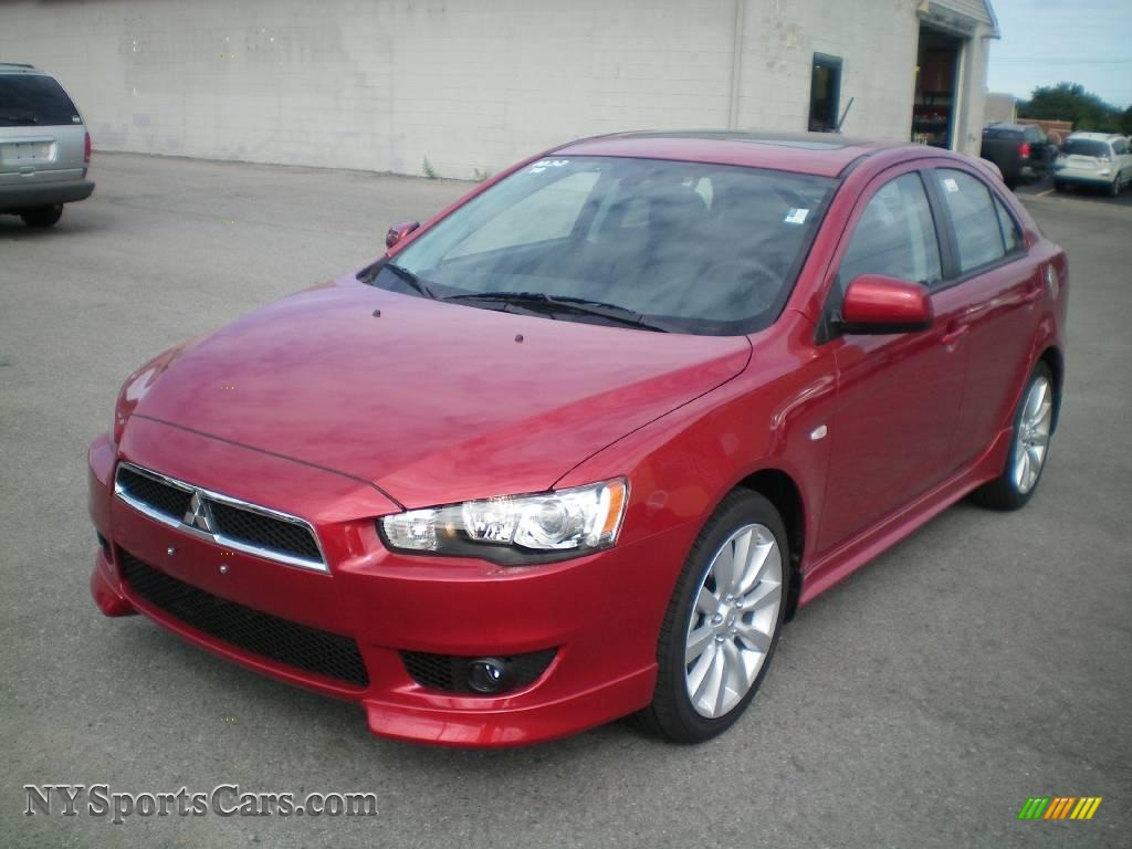 2010 mitsubishi lancer sportback gts in rally red metallic 001922 cars. Black Bedroom Furniture Sets. Home Design Ideas