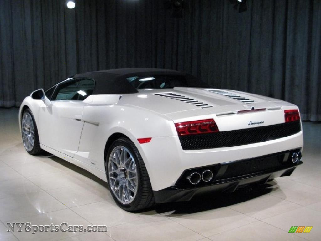 2010 Gallardo LP560 4 Spyder   Balloon White / Black/White Photo #2