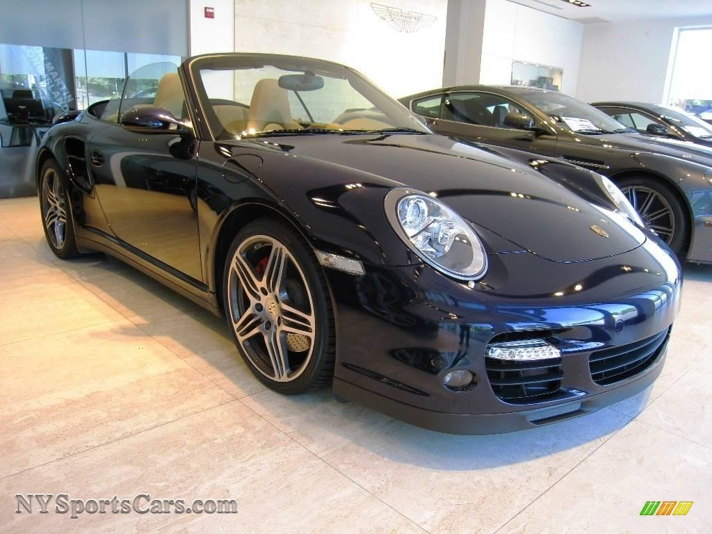 2008 Porsche 911 Turbo Cabriolet In Midnight Blue Metallic
