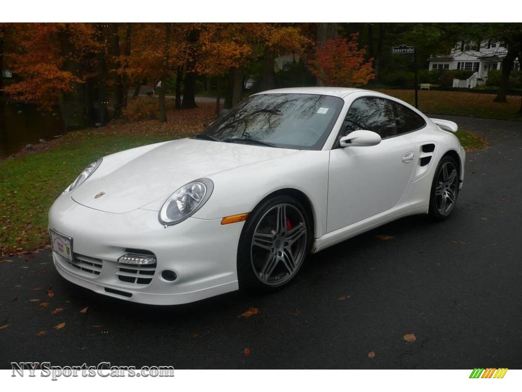 2008 porsche 911 turbo coupe in carrara white 783513. Black Bedroom Furniture Sets. Home Design Ideas