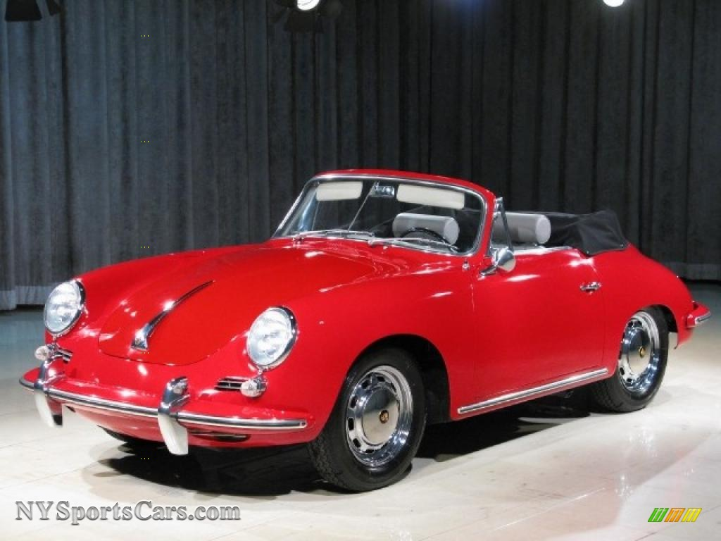 1965 356 SC Cabriolet - Signal Red / Grey photo #1