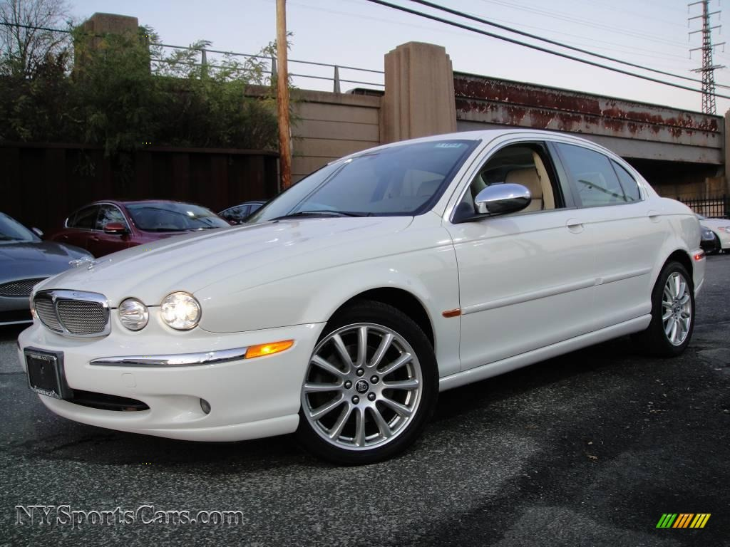 2007 jaguar x type 3 0 in white onyx j27786 cars for sale in new york. Black Bedroom Furniture Sets. Home Design Ideas