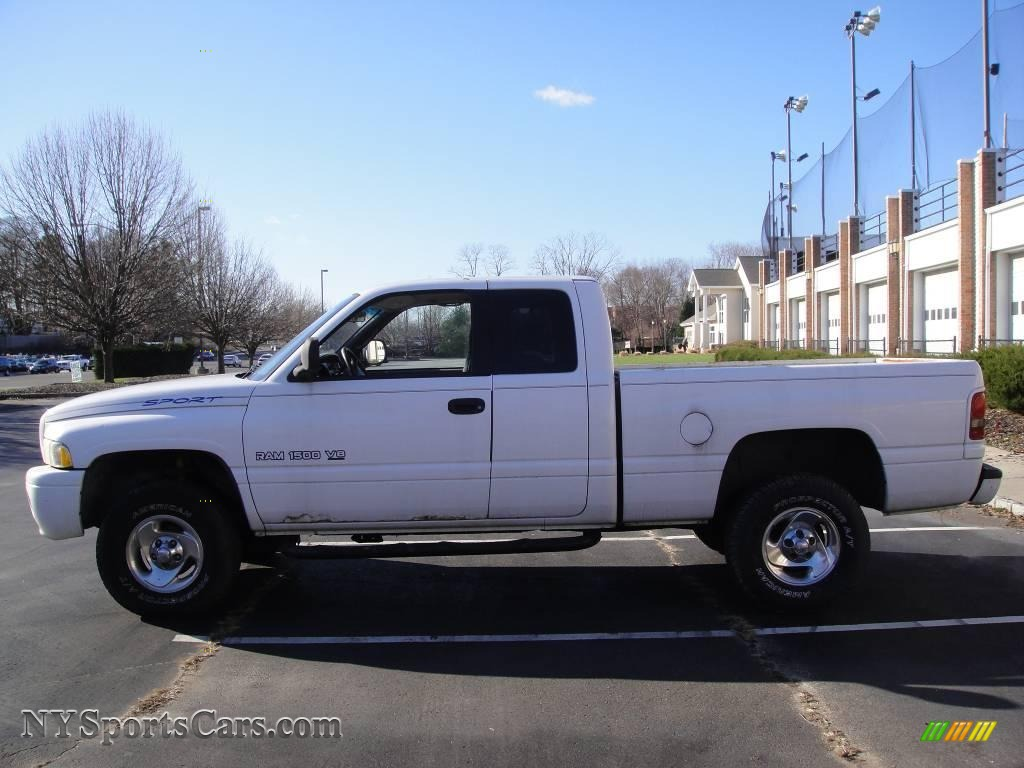 1999 dodge ram 1500 sport extended cab 4x4 in bright white photo 3 130542. Black Bedroom Furniture Sets. Home Design Ideas