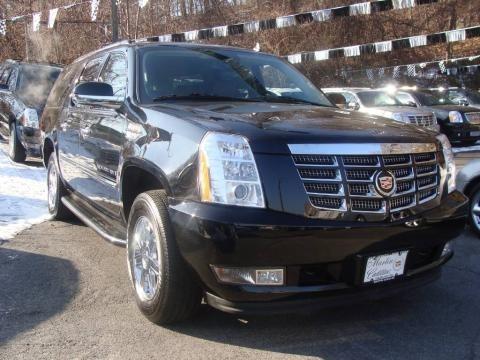 Black Cadillac Escalade 2009. 2009 Cadillac Escalade ESV AWD