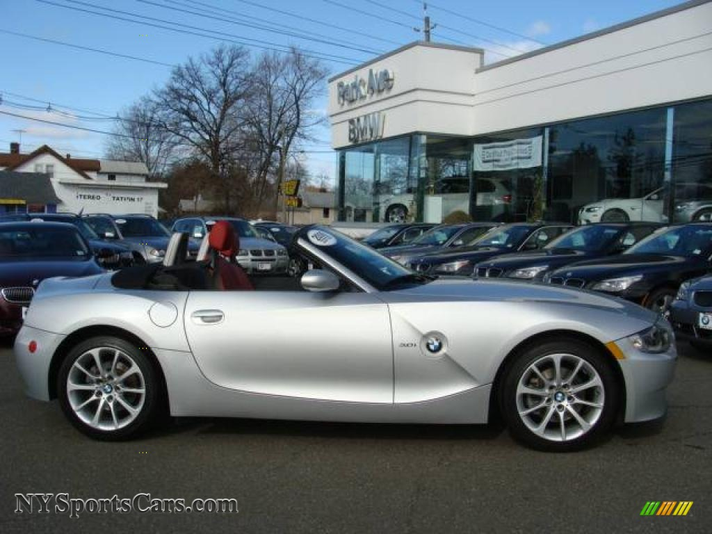 2006 bmw z4 3.0i roadster in titanium silver metallic - w66980