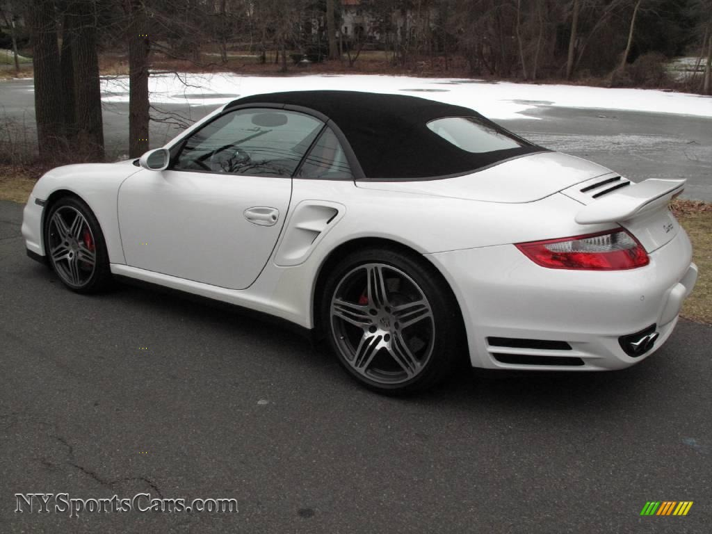 2008 porsche 911 turbo cabriolet in carrara white photo 4. Black Bedroom Furniture Sets. Home Design Ideas