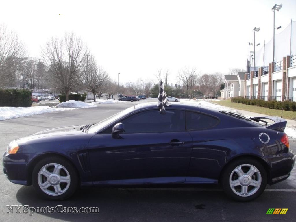 2003 hyundai tiburon in carbon blue photo 3 022289. Black Bedroom Furniture Sets. Home Design Ideas