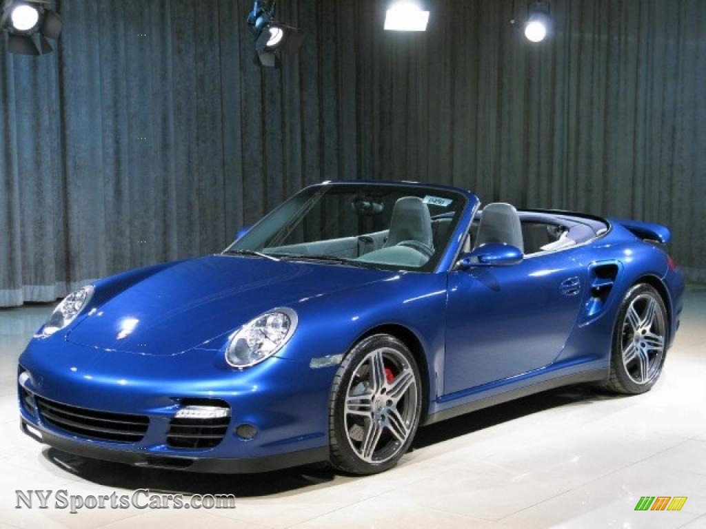 2008 Porsche 911 Turbo Cabriolet In Cobalt Blue Metallic