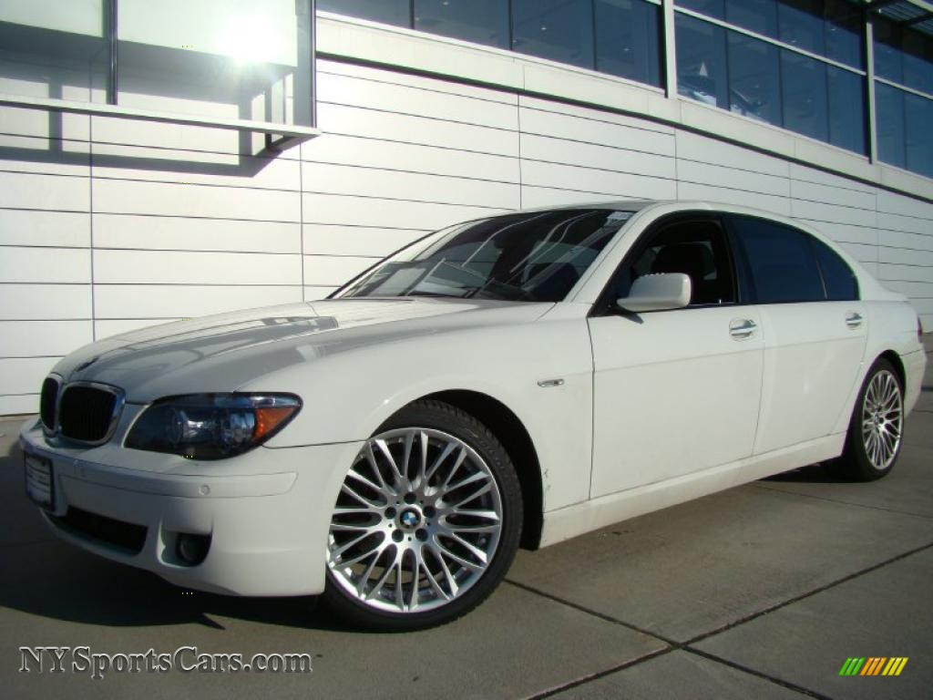 Alpine White Black BMW 7 Series 750Li Sedan