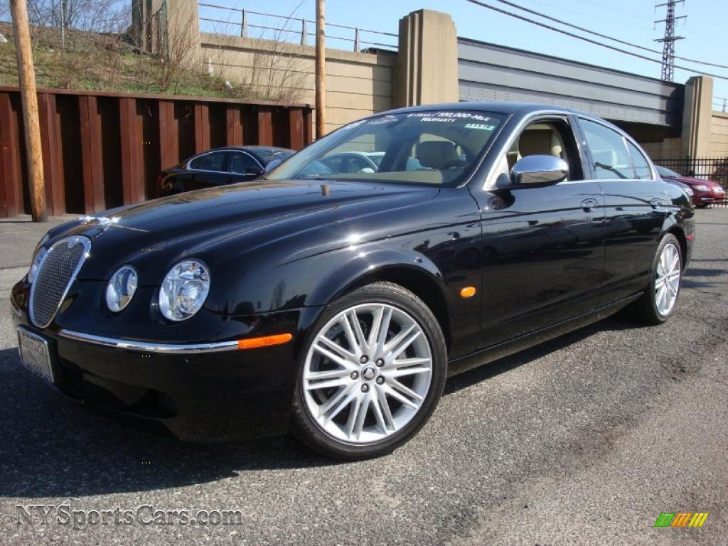 2008 jaguar s type 3 0 in ebony black n87003 cars for sale in new york. Black Bedroom Furniture Sets. Home Design Ideas