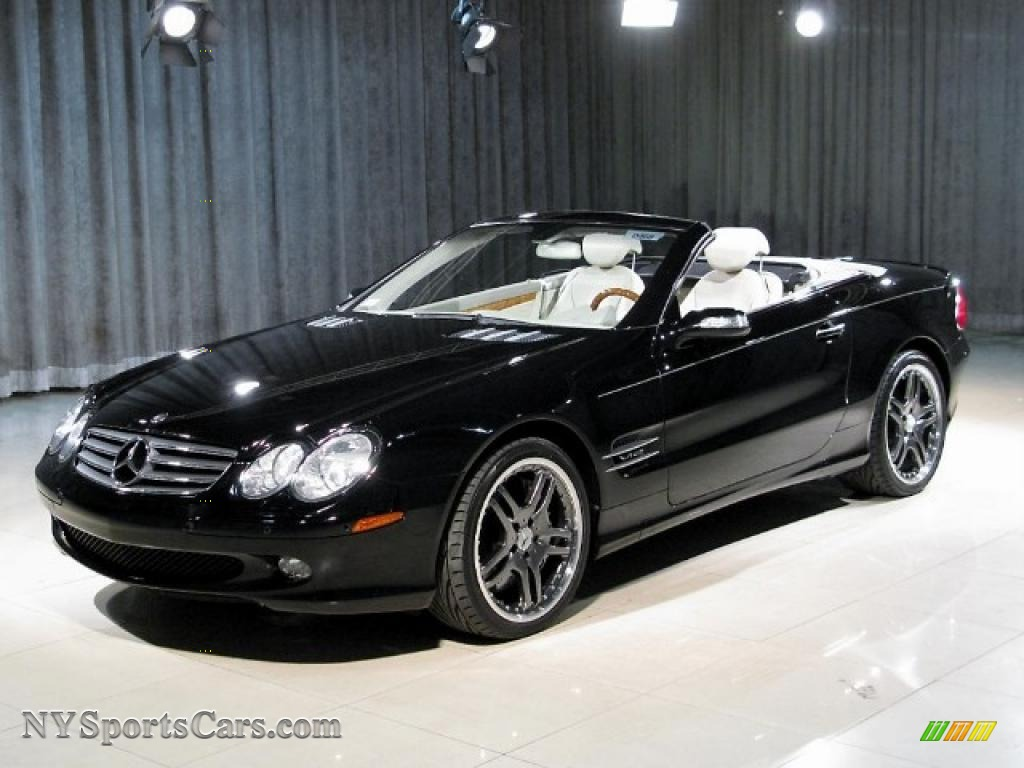 2004 mercedes benz sl 600 roadster in black 065030. Black Bedroom Furniture Sets. Home Design Ideas