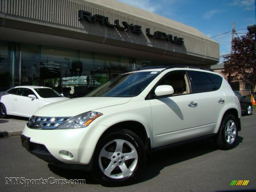2005 Nissan Murano Sl Awd In Glacier Pearl White Photo 13
