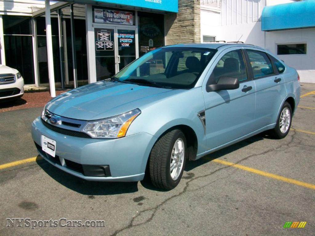 2008 Ford Focus Se Sedan In Light Ice Blue Metallic