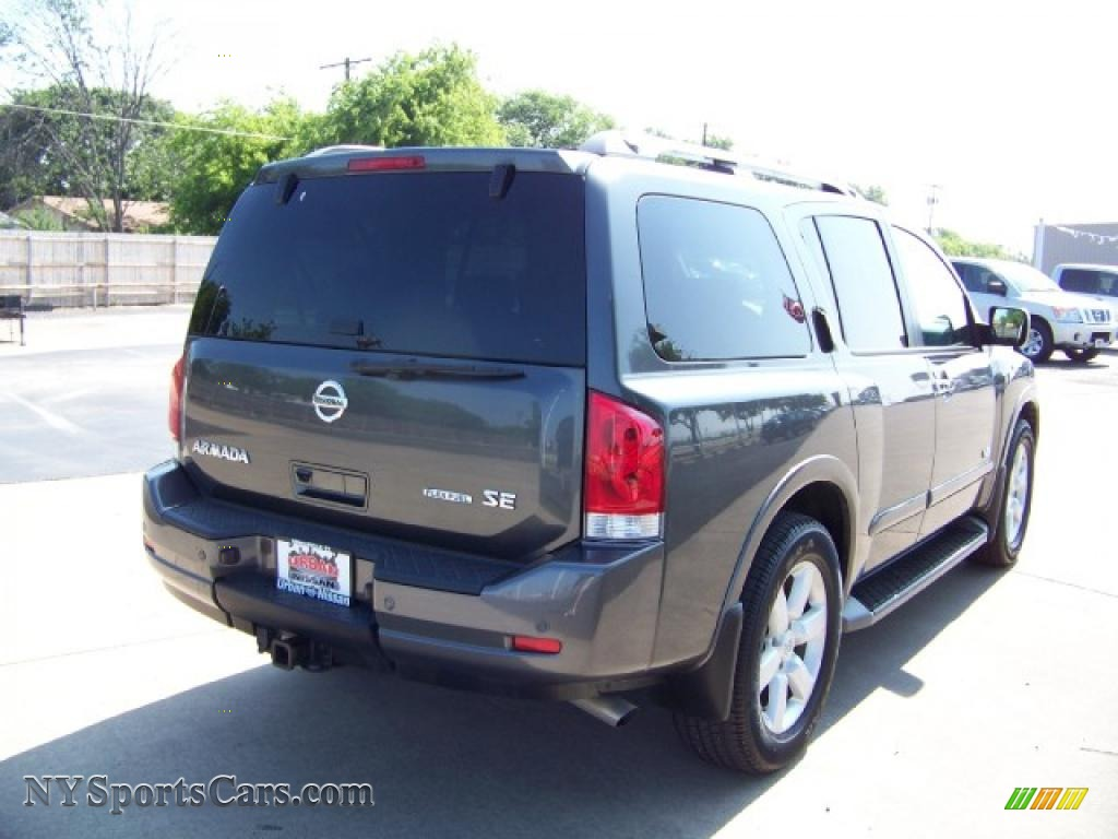 2008 nissan armada se in smoke gray photo 4 624455 cars for sale in new york. Black Bedroom Furniture Sets. Home Design Ideas