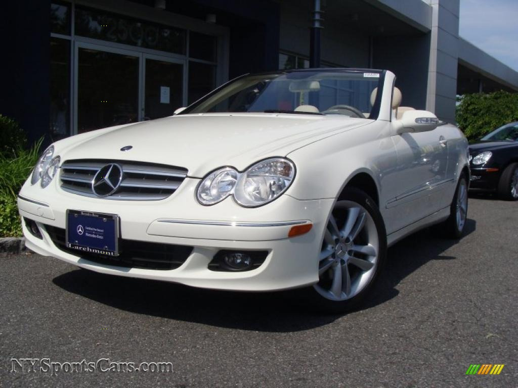 2007 mercedes benz clk 350 cabriolet in arctic white for Mercedes benz clk350 for sale
