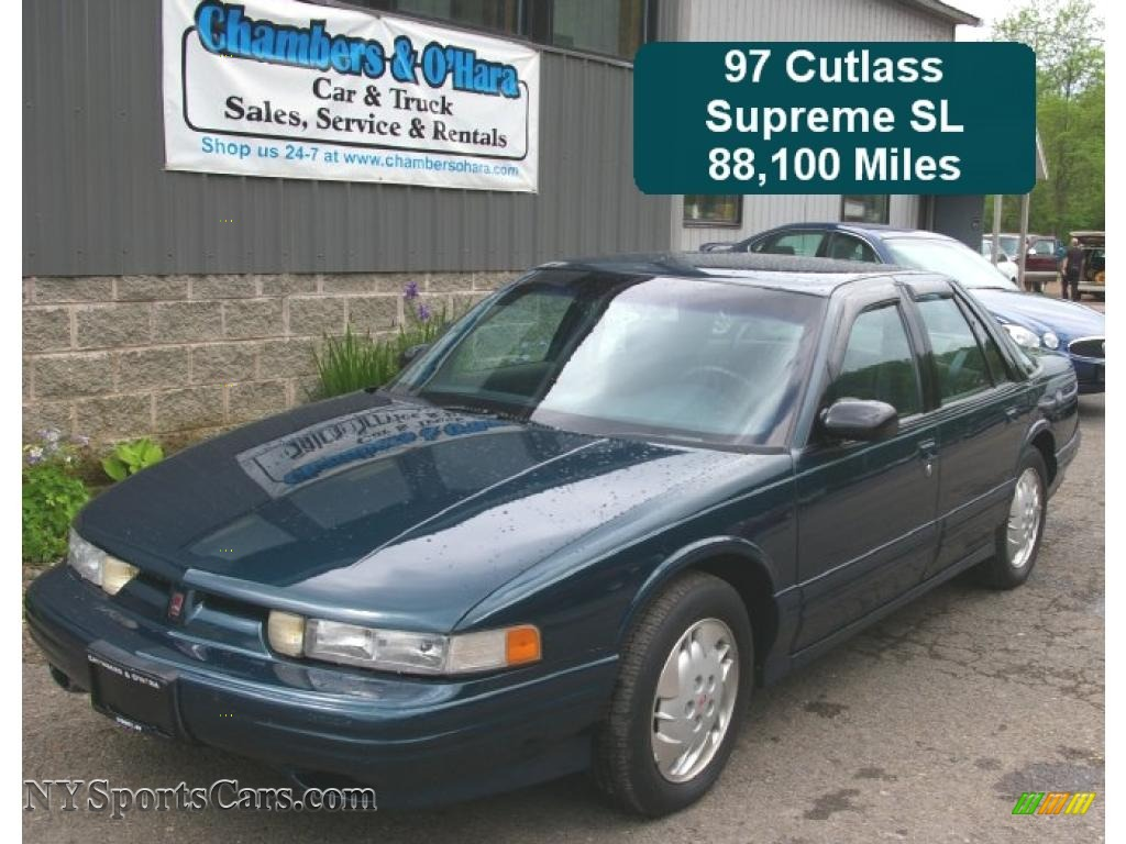 1997 oldsmobile cutlass supreme sl sedan in dark teal metallic 310765 nysportscars com cars for sale in new york nysportscars com