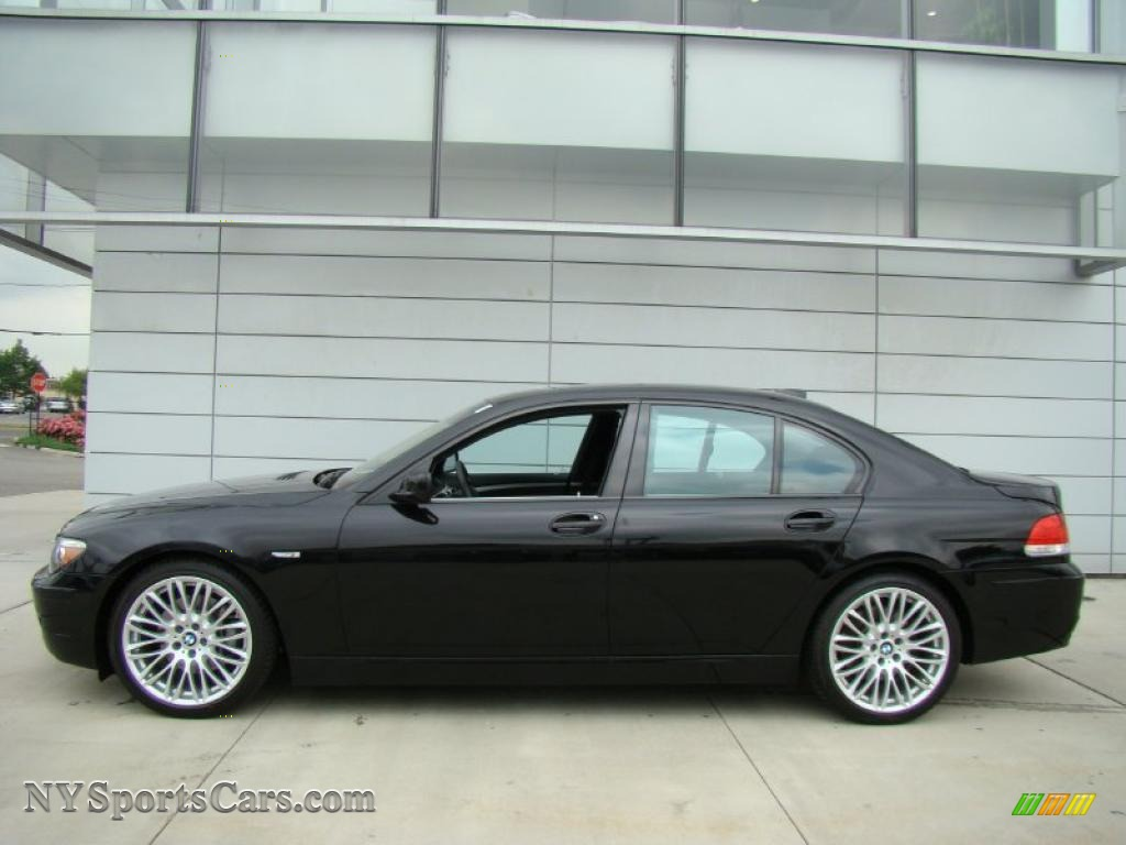 2008 Bmw 7 Series 750i Sedan In Jet Black Photo 3