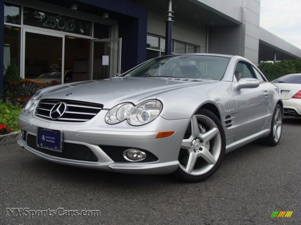 2008 mercedes benz sl 55 amg roadster in iridium silver metallic 135463. Black Bedroom Furniture Sets. Home Design Ideas