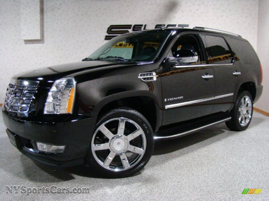 2008 cadillac escalade awd in black raven 252095. Black Bedroom Furniture Sets. Home Design Ideas