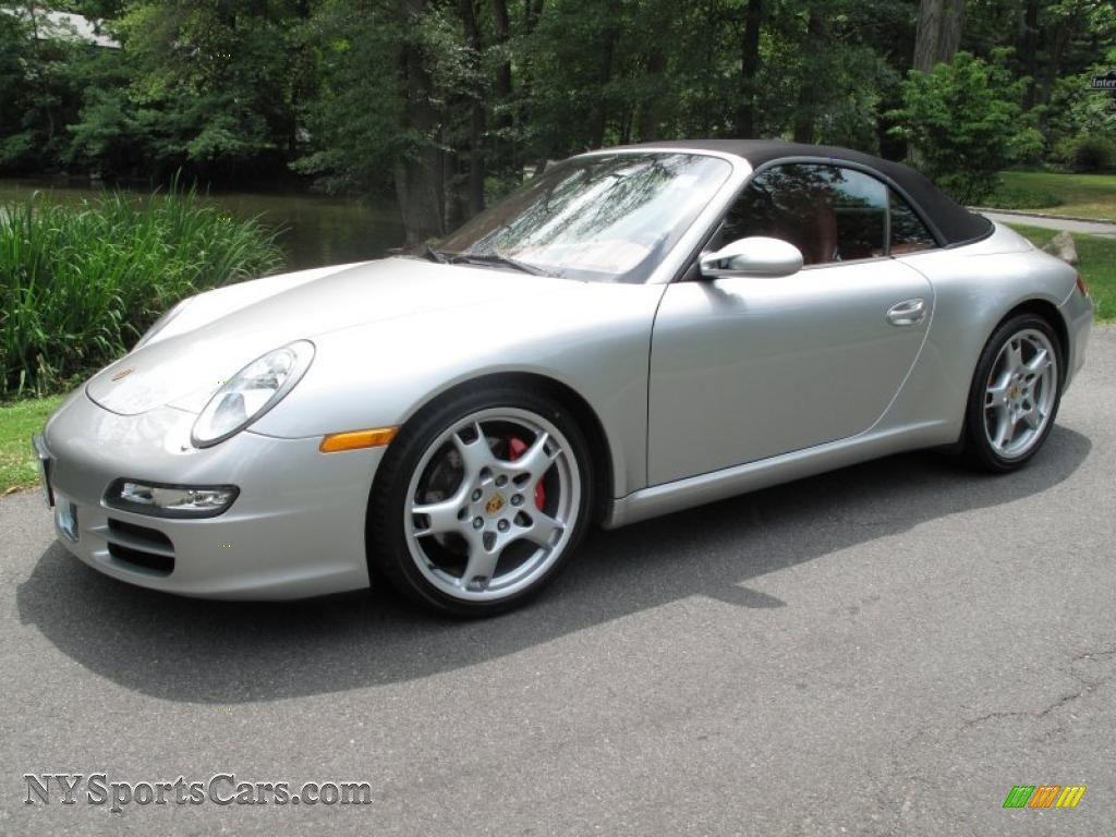 2006 porsche 911 carrera s cabriolet in arctic silver metallic 768408. Black Bedroom Furniture Sets. Home Design Ideas