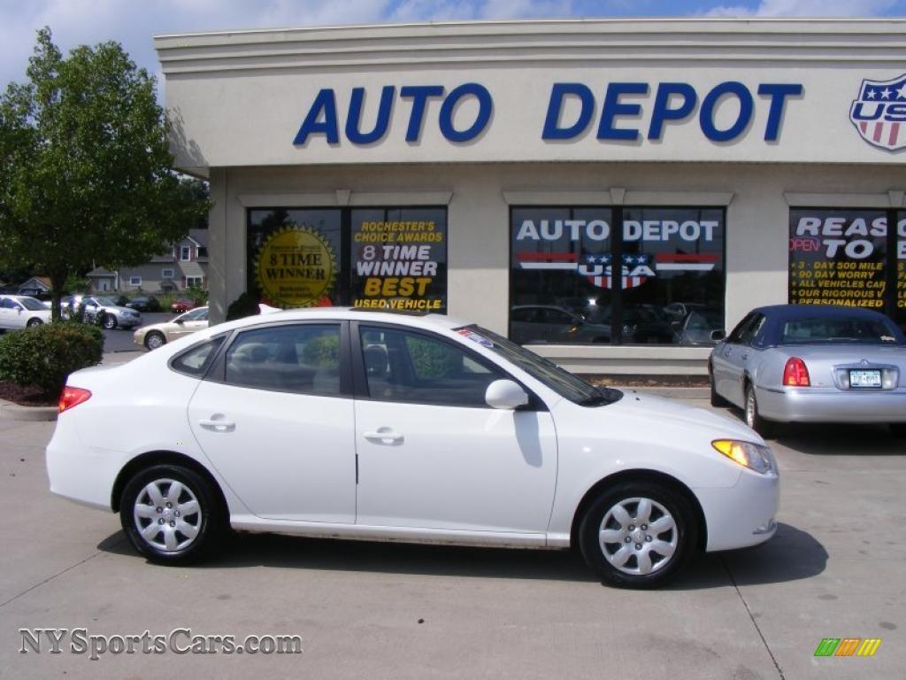2009 Hyundai Elantra Se Sedan In Captiva White 654367 Nysportscars Com Cars For Sale In