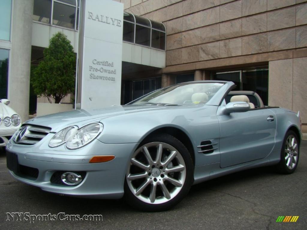 2007 mercedes benz sl 550 roadster in diamond silver for Silver mercedes benz