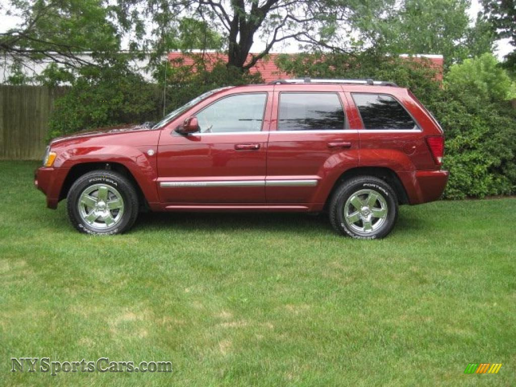 2007 Jeep Grand Cherokee Overland 4x4 In Red Rock Crystal
