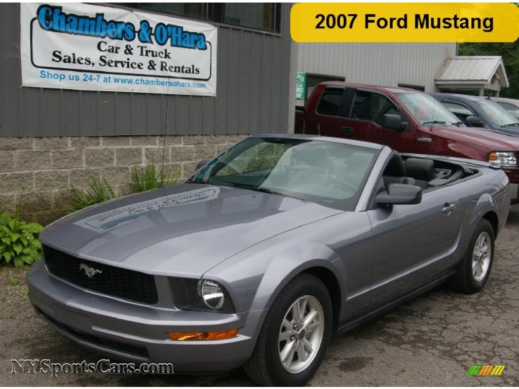 2007 Ford Mustang V6 Premium Convertible In Tungsten Grey