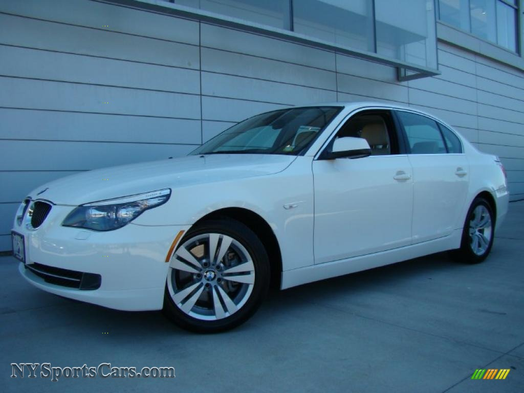 2010 5 Series 528i Sedan - Alpine White / Ivory White/Black Nappa Leather photo #1