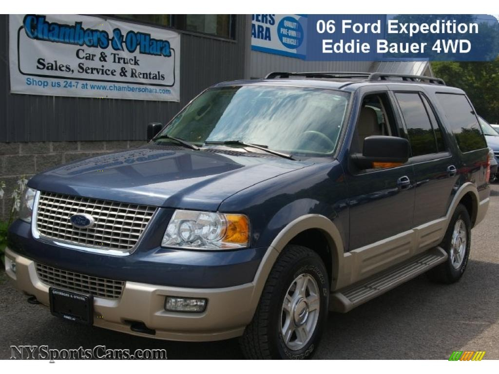 Medium wedgewood blue metallic medium parchment ford expedition eddie bauer 4x4