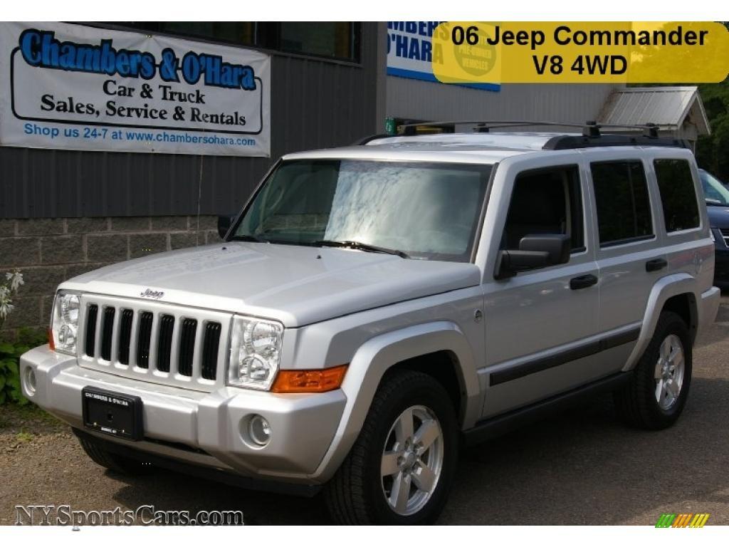 2006 jeep commander 4x4 in bright silver metallic - 188834