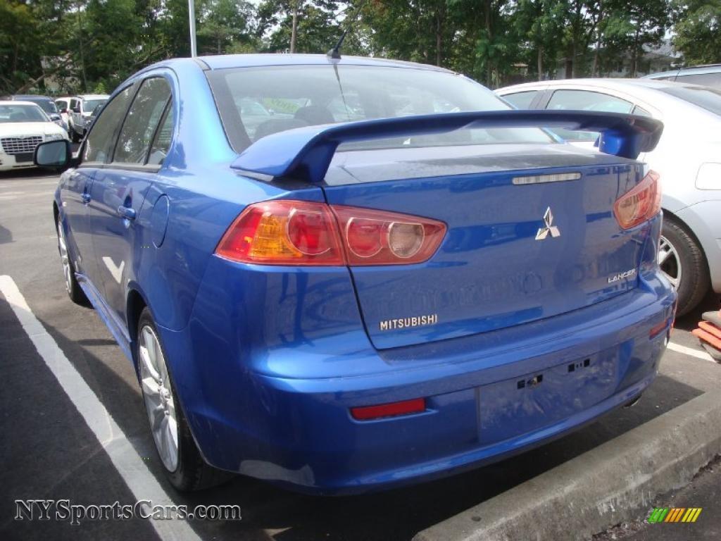 2009 mitsubishi lancer gts in octane blue pearl photo 6 022294 cars for. Black Bedroom Furniture Sets. Home Design Ideas