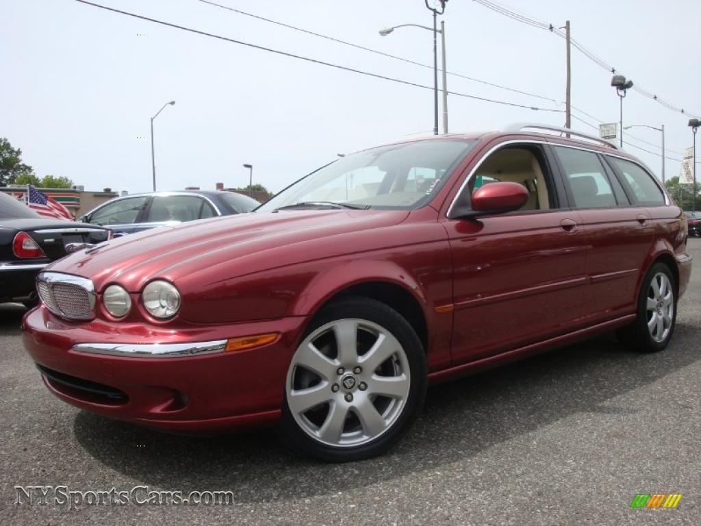 2006 jaguar x type 3 0 sport wagon in radiance red metallic e79882 cars. Black Bedroom Furniture Sets. Home Design Ideas