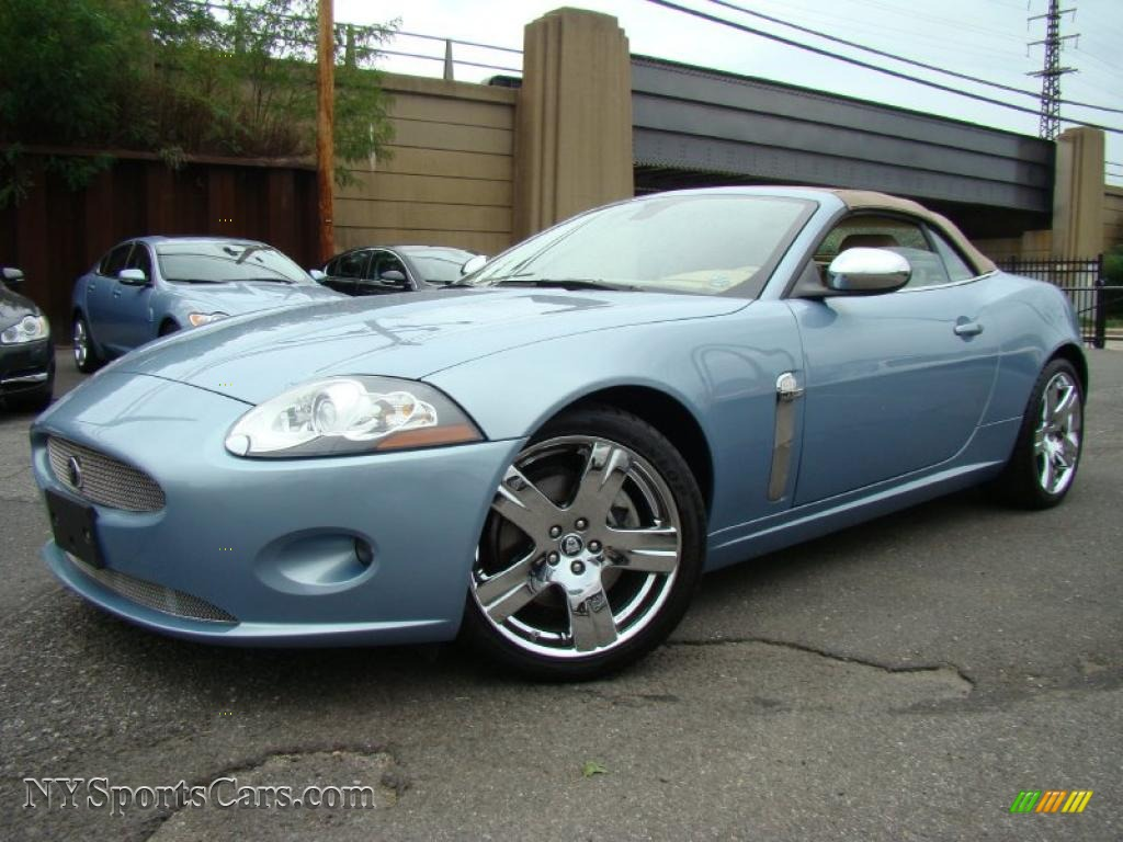 2007 Jaguar Xk Xk8 Convertible In Frost Blue Metallic