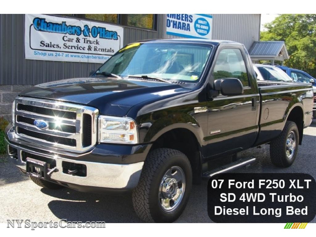 2007 Ford F250 Super Duty Xlt Regular Cab 4x4 In Black A77468 Nysportscars Com Cars For Sale In New York