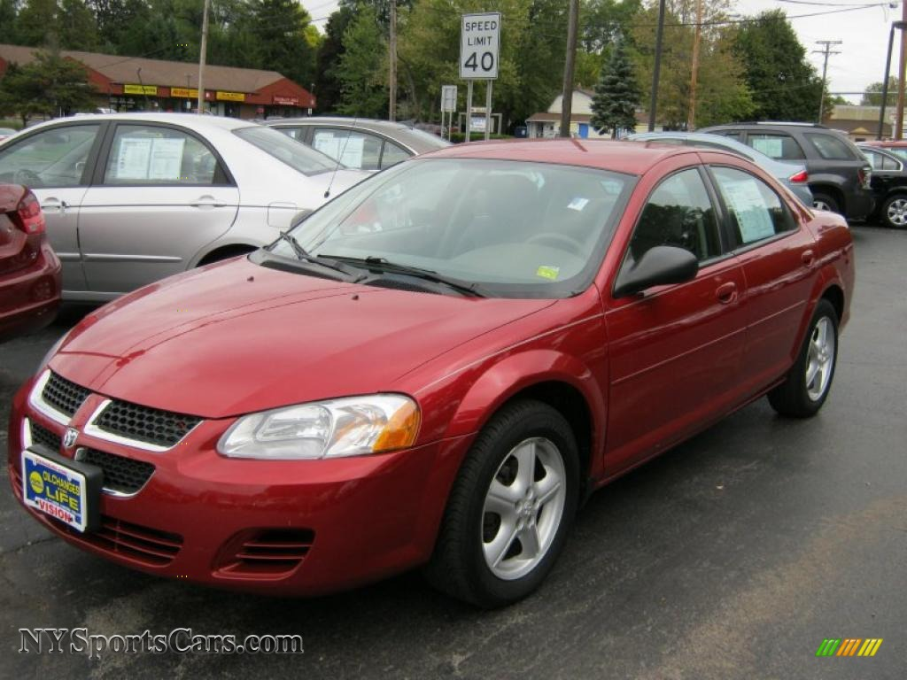 2006 Dodge Stratus Sxt Sedan In Inferno Red Crystal Pearl