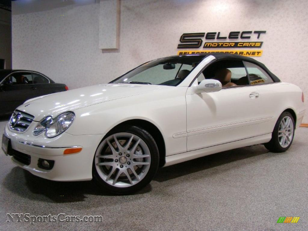 2008 mercedes benz clk 350 cabriolet in arctic white for Mercedes benz clk350 for sale