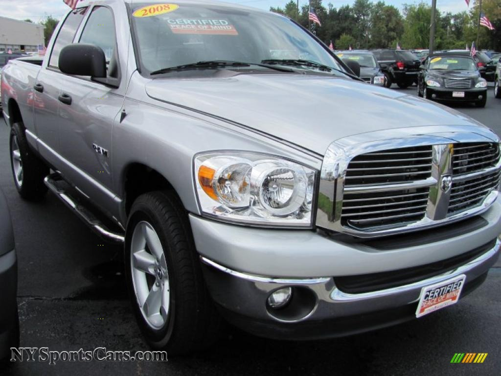 2008 dodge ram 1500 big horn edition quad cab 4x4 in bright silver metallic 123892. Black Bedroom Furniture Sets. Home Design Ideas