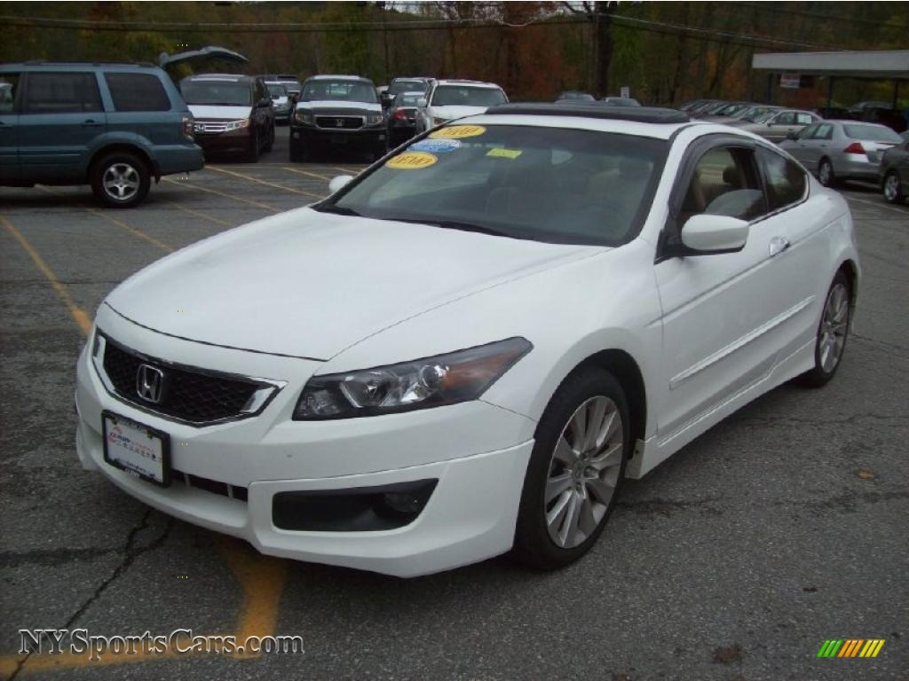 2010 honda accord ex l v6 coupe in taffeta white photo 22 007827 cars. Black Bedroom Furniture Sets. Home Design Ideas