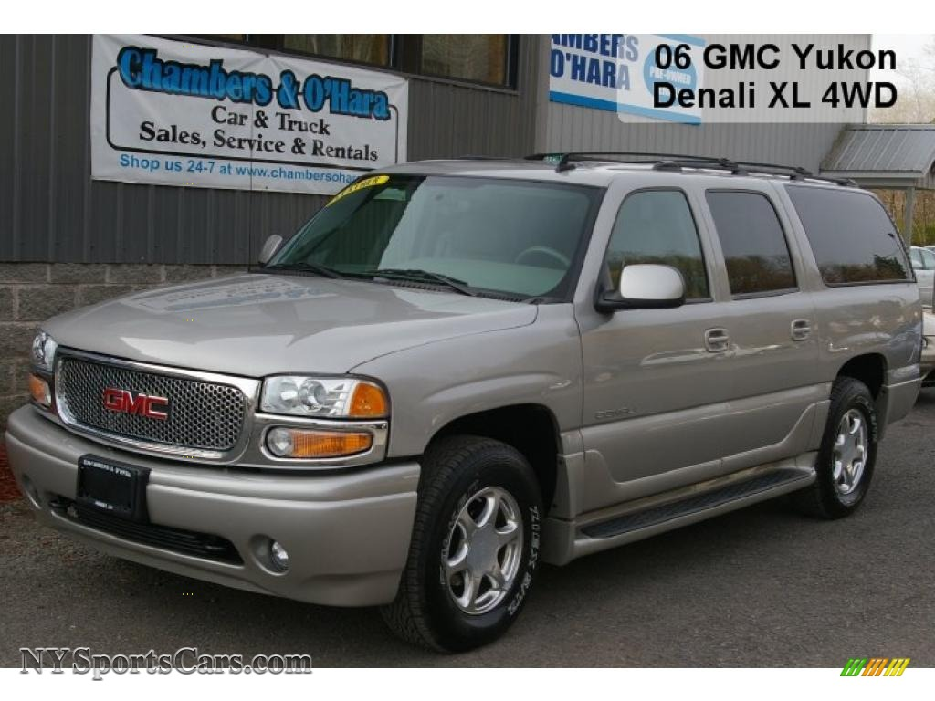 2006 yukon xl denali awd silver birch metallic stone gray photo 1