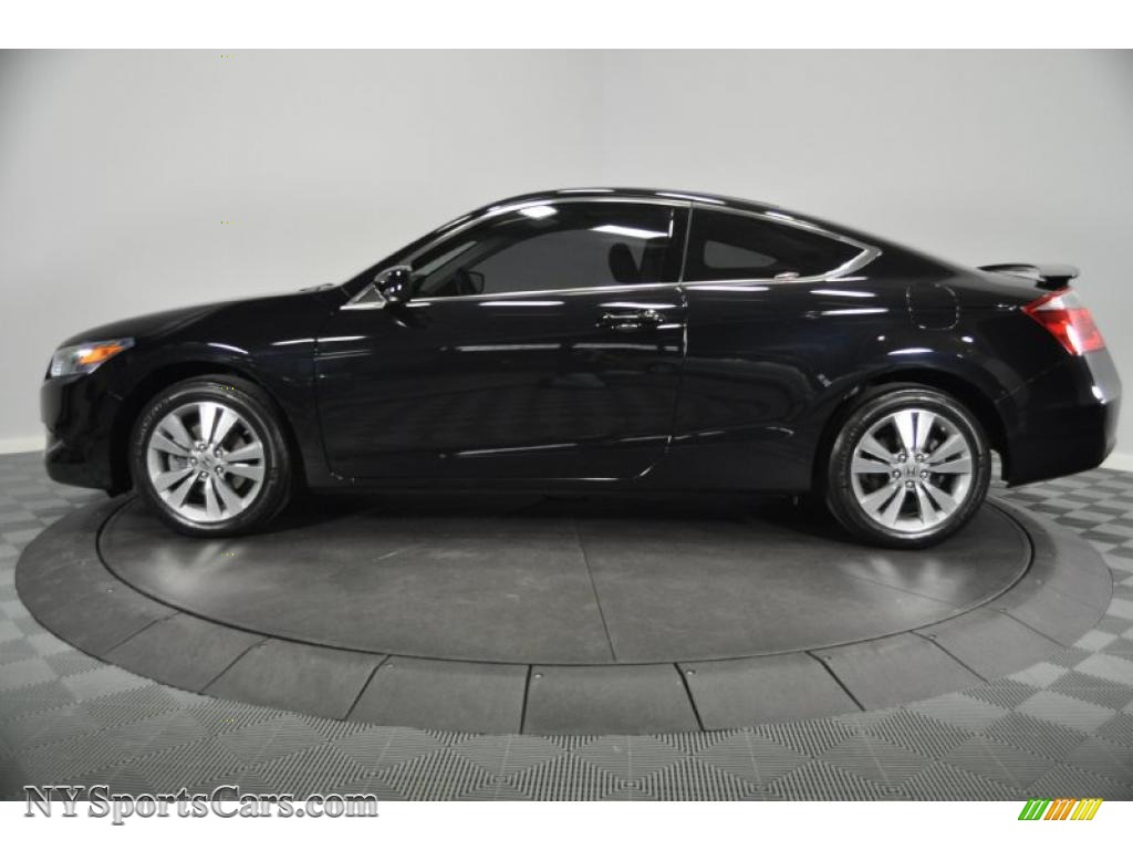 2008 Accord EX-L Coupe - Nighthawk Black Pearl / Black photo #2