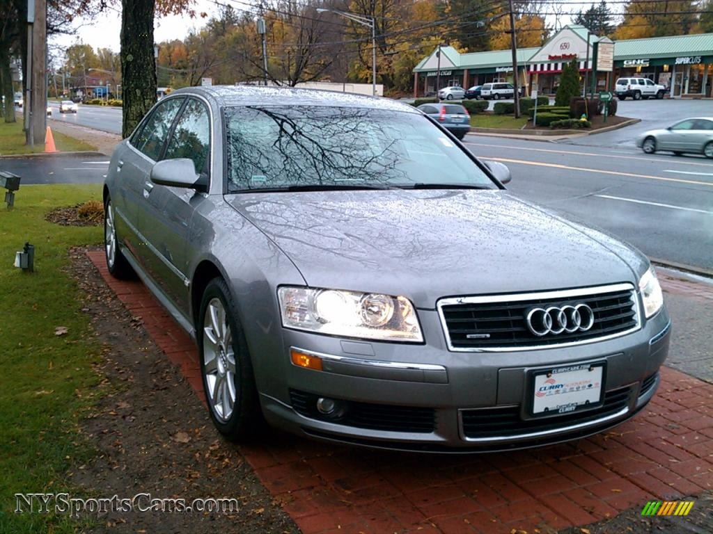 2005 Audi A8 L 4 2 Quattro In Akoya Silver Metallic Photo