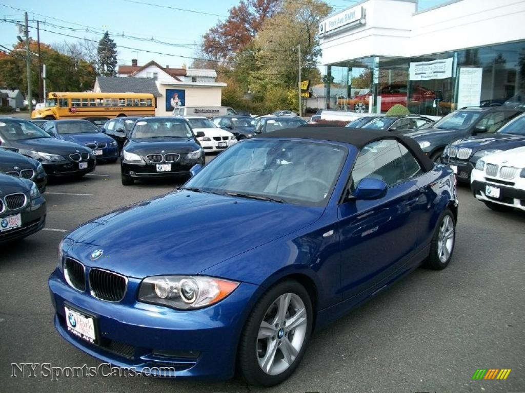 BMW Series I Convertible In Montego Blue Metallic - 2010 bmw 128i convertible